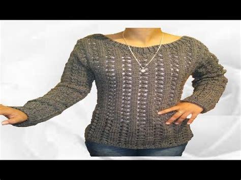 sueter tejido a dos agujas youtube chompa tejida para dama su 233 ter blus 243 n tejido a palitos