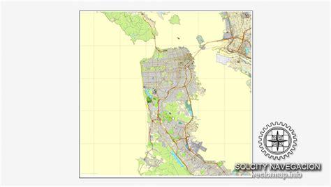 san francisco map vector free san francisco california us printable vector city
