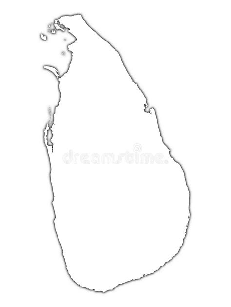 Carte D'ensemble Du Sri Lanka Illustration Stock