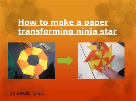 How To Make A Paper Slide - ppt how to make a paper transforming