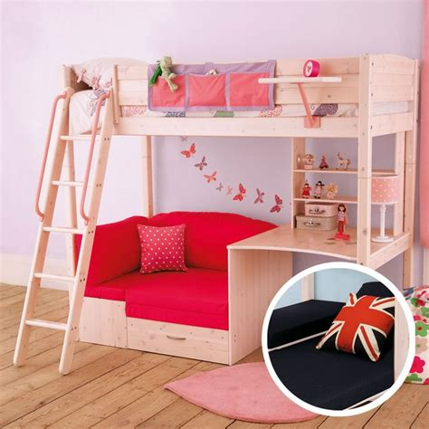 girls loft bed with desk bunk bed for girls with desk