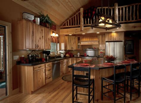 Kitchen Layout Ideas With Island by Rustic Plank Hickory Natural With Chocolate Glaze Rustic