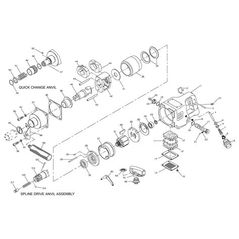 ingersoll rand parts diagram air tool ingersoll rand air tool parts diagrams