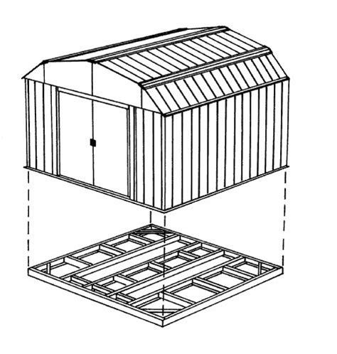 arrow fdn storage shed base kit