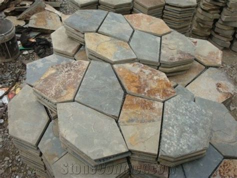 flagstone colors wellest brown multi color slate meshed paving