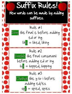 rule adding suffixes ed and ing changes the tense of a verb 1000 images about suffixes on pinterest word sorts