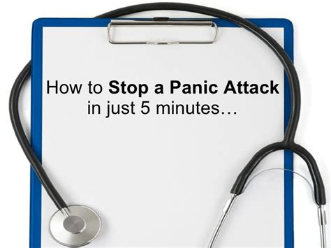 how to stop a attack how to stop a panic attack in 5 minutes