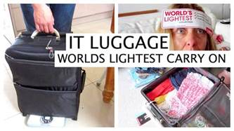 it cabin bag worlds lightest carry on cabin bag luggage review