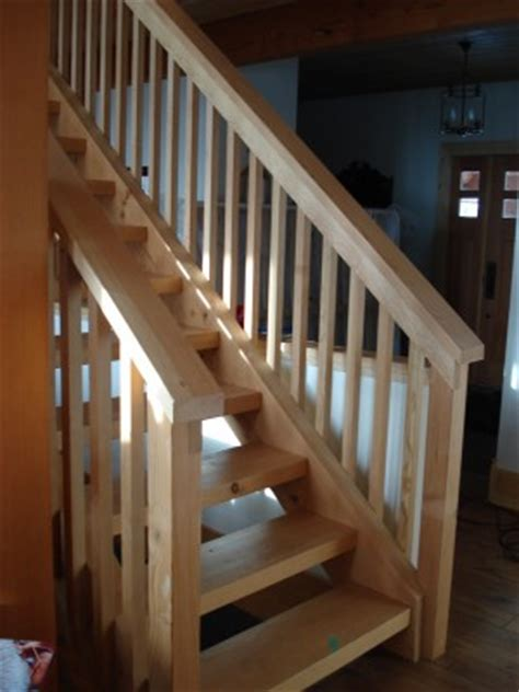 Premade Handrails interior finishes tamlin homes timber frame home packages