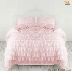 Details about uk bedding set egyptian cotton pink waterfall ruffle