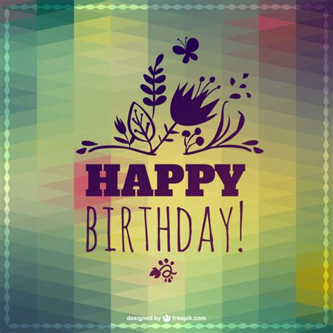 imagenes vintage happy birthday happy birthday lettering abstract template vector free