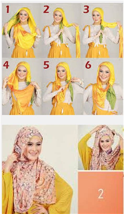 tutorial berhijab ala april jasmine contoh gambar tutorial jilbab pashmina ala april jasmine