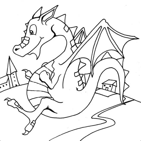 coloring pictures of flying dragons flying dragon easy coloring pages