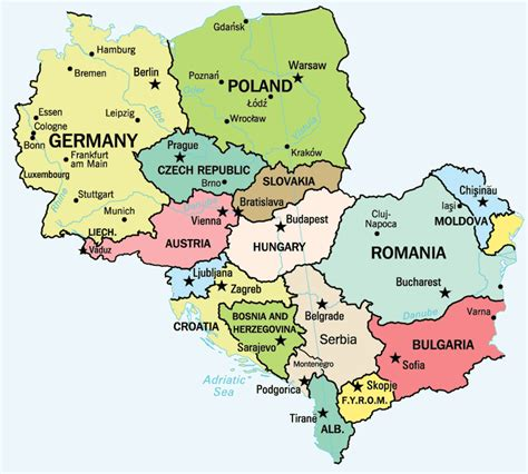 map of central europe map of central europe central europe political map