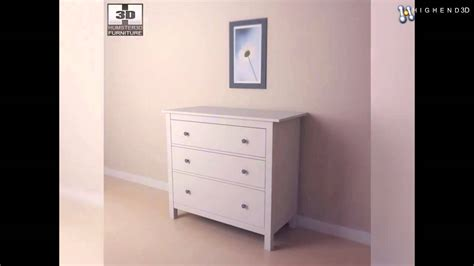 hemnes chest of 3 drawers ikea hemnes chest of 3 drawers 3d model from creativecrash