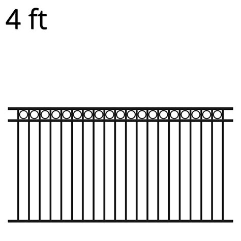 iron fence panel 48 x 94 denali