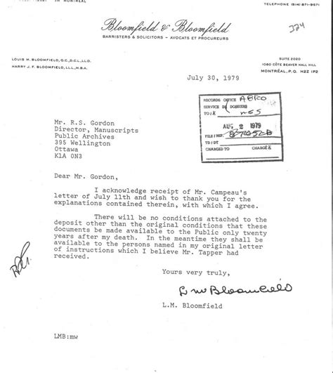 Transfer Letter For To Another Department Louis Mortimer Bloomfield Jfk Assassination Debate The Education Forum
