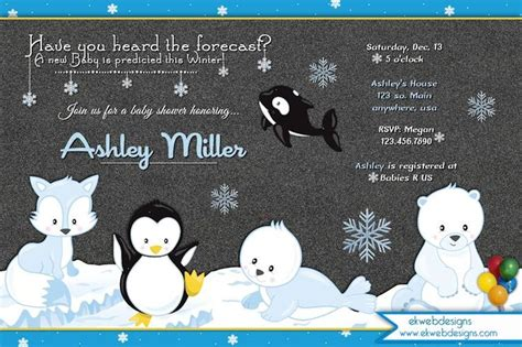 winter baby shower invitations blue floral bouquet baby its cold