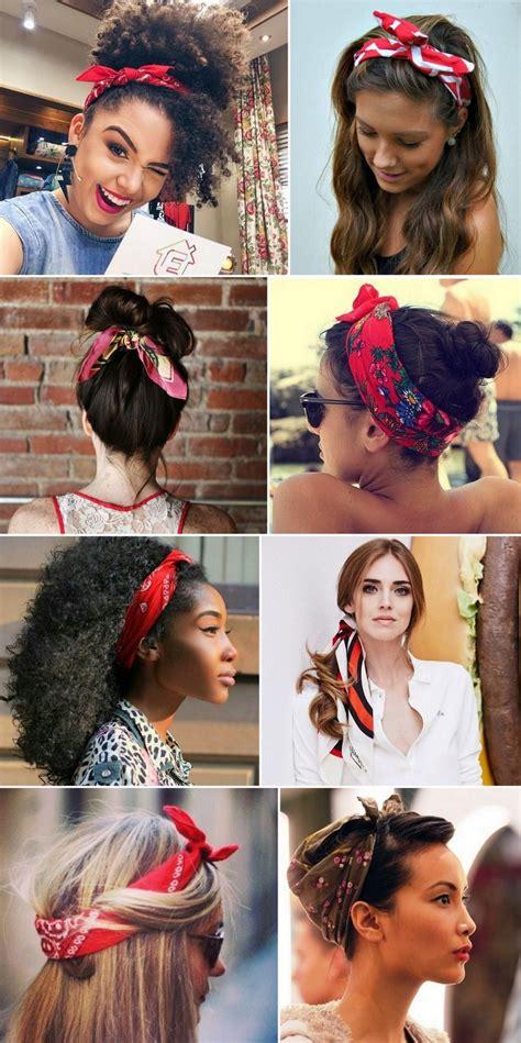 ways to wear bandanas on hair 12 maneiras de usar bandanas len 231 os bandanas hair