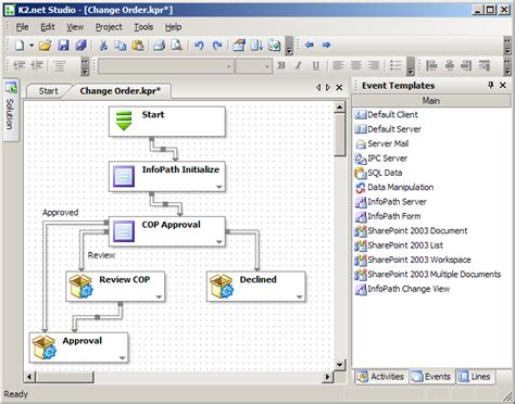 creating a process using the infopath process wizard