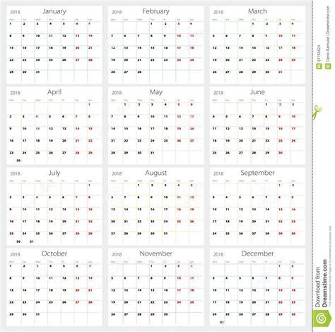 Vollmond Kalender 2018 Kalender 2018 Stock Foto Afbeelding Bestaande Uit Tijd