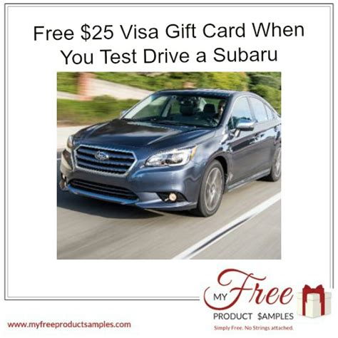 Test Drive Gift Card Offers 2017 Toyota - free 25 visa gift card when you test drive a subaru myfreeproductsles com