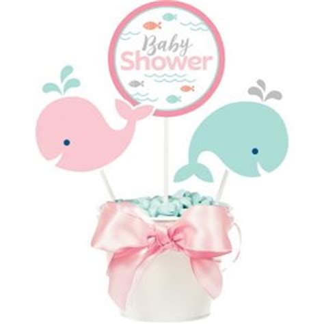 Whale Baby Shower Centerpieces by Pink Baby Whale Baby Shower Centerpiece Sticks 3ct