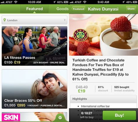 groupon site not mobile 20 mobile apps for shopping discounts and deals hongkiat
