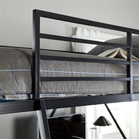 size metal bunk beds size sturdy metal bunk bed in silver finish