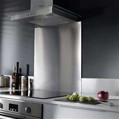 Charmant Profondeur Plan De Travail Cuisine #2: credence-de-cuisine-inox-castorama.jpg