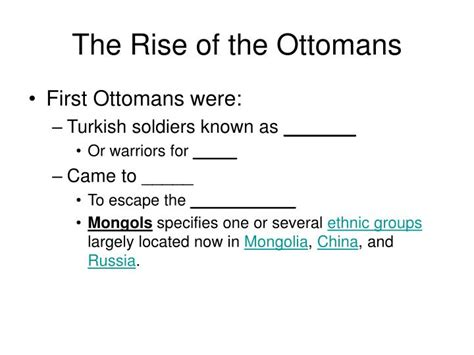 rise of the ottomans ppt the rise of the ottomans powerpoint presentation