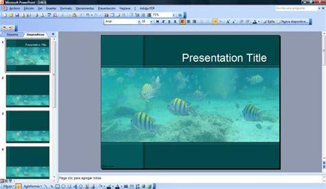 Aquarium Powerpoint Template Aquarium Ppt Templates Free