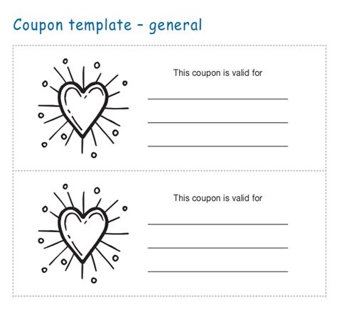 coupon card template word coupon templates 31 free word psd pdf documents