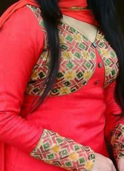 jacket design punjabi suit red plain raw silk full patiala punjabi salawar kameez
