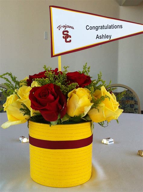 centerpieces for graduation from college usc graduation centerpiece crafts graduation centerpiece graduation and