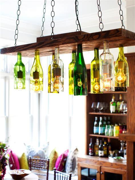 diy light up wine bottle brighten up with these diy home lighting ideas hgtv s