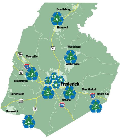 frederick county christmas tree recycling locations