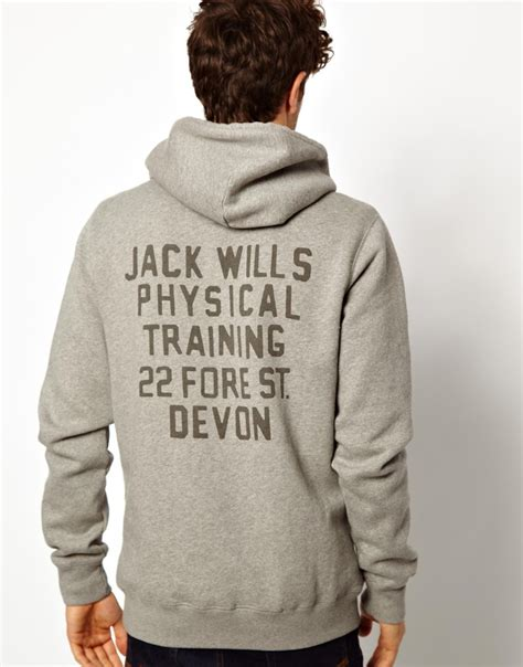 Jw Hodie wills hoody with jw back print in gray for lyst