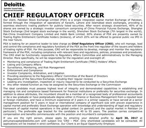 Chief Officer Salary by Chief Regulatory Officer In Pakistan Stock Exchange