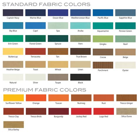 upholstery colors sunbrella awning fabric colors images