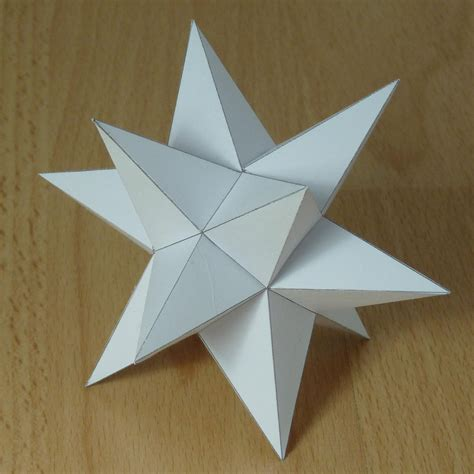 3d Shapes Paper Folding - paper great rhombihexacron