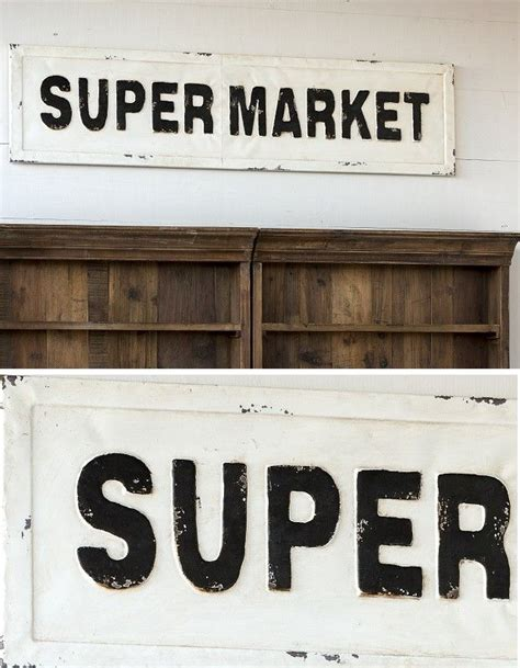 Pantry Sign For Door by Embossed Metal Quot Supermarket Quot Sign More Pantry And Doors