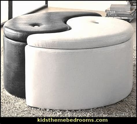 Ying Yang Storage Ottoman Decorating Theme Bedrooms Maries Manor Martial Arts Theme Bedrooms Karate Bedroom Ideas