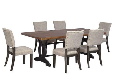 Above Beyond Furniture Zurani Brown Black Rectangular Brown Dining Room Table