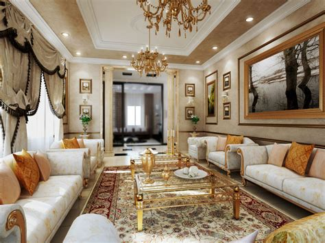 gold living room modern interior design with gold color ifresh design