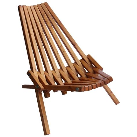 Wooden Lounge Chair by Mid Century Wood Folding Lounge Chair For Sale At 1stdibs
