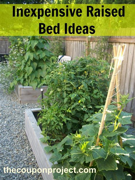 cheap raised garden beds frugal gardening four inexpensive raised bed ideas