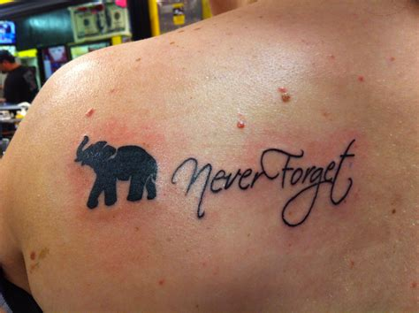 never forget tattoo my favorite never forget loveeeee it elephant