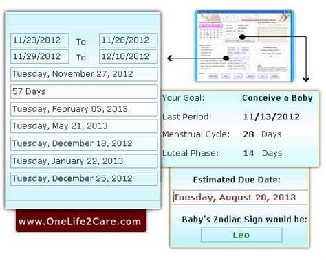 Calendar Calculator Pregnancy Onelife 2 Care Pregnancy Calculator And Ovulation Calendar
