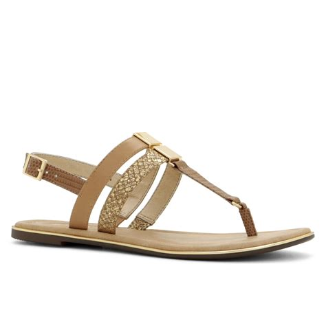 aldo brown sandals aldo viviere t sandals in brown cognac lyst
